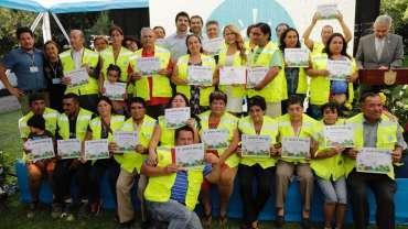 Recicladores de Base de Maipú en celebración de su Día Mundial
