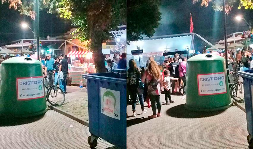 Reciclaje Cristoro en Comuna de Molina en la Fiesta de la Vendimia