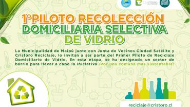 Inicio proyecto piloto Recicla Vidrio en tu Barrio