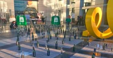Intervención Urbana, de reciclaje de vidrio Viña Concha y Toro – Cristoro Reciclaje