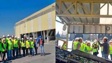Cristoro Reciclaje recibe visitas en Planta de Reciclaje de Vidrio